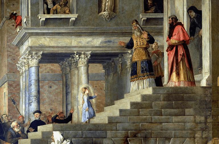 Введение во храм Пресвятой Богородицы. Тициан. 1534-1538